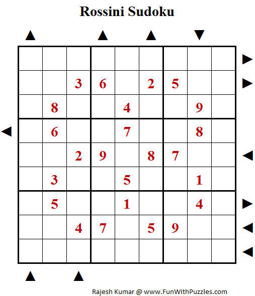 Rossini Sudoku (Fun With Sudoku #105)