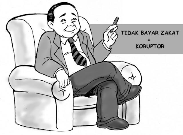 Tidak bayar zakat sama dengan koruptor