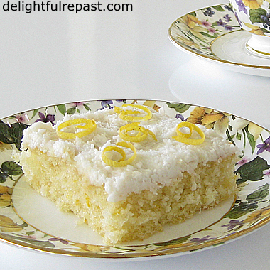 Meyer Lemon Sheet Cake - A Feeds-A-Crowd Half Sheet Cake / www.delightfulrepast.com