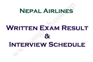 Nepal Airlines Exam Result and Interview Dates