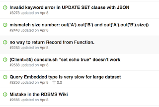 OrientDB issues updated on April 8