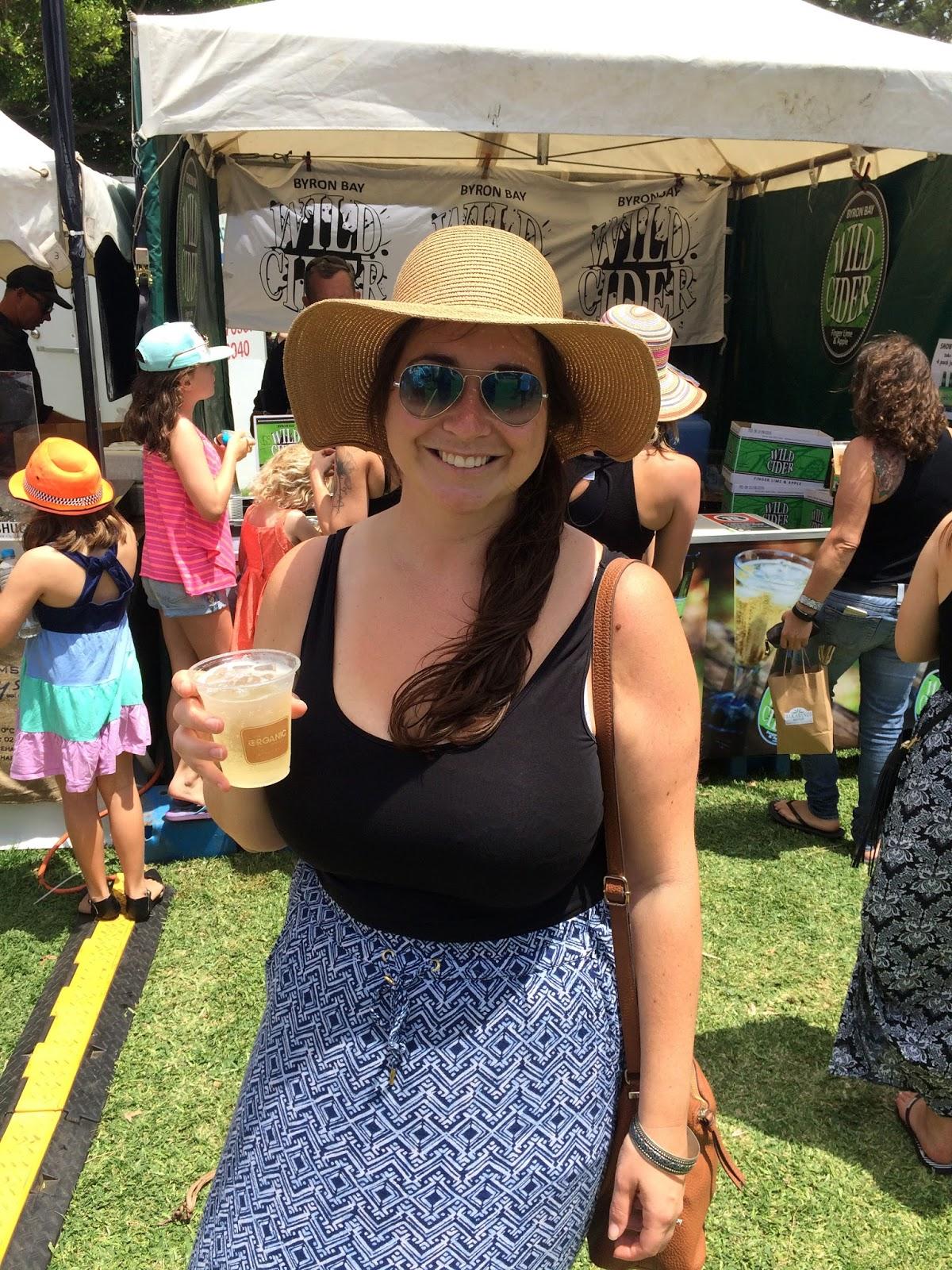 Girl drinking at Port Macquarie Tastings on Hastings Festival Day