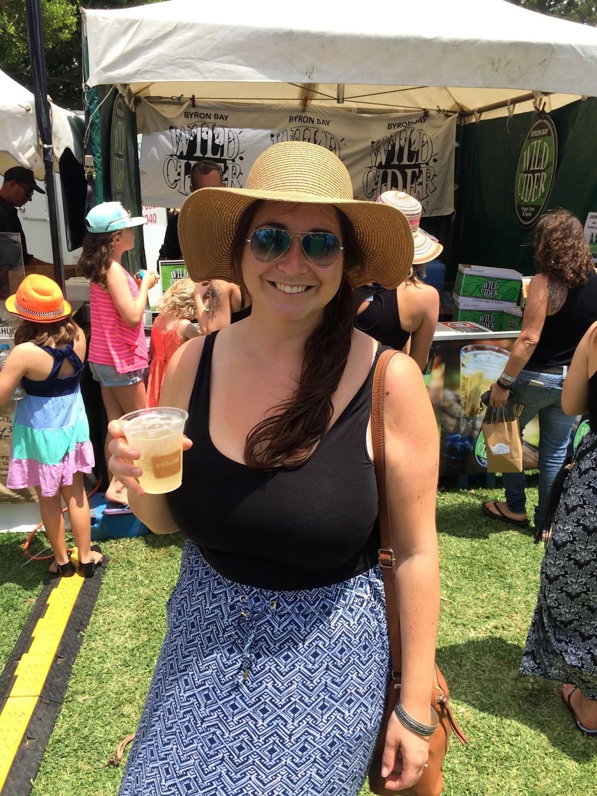 Girl drinking at Port Macquarie Tastings on Hastings Festival Day