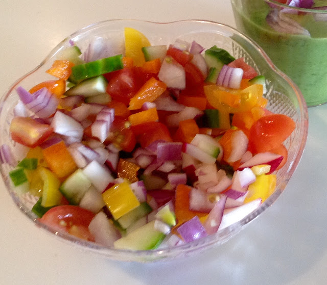 raw vegetable salsa