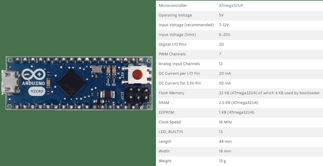 لوح الاردوينو مايكرو Arduino Micro