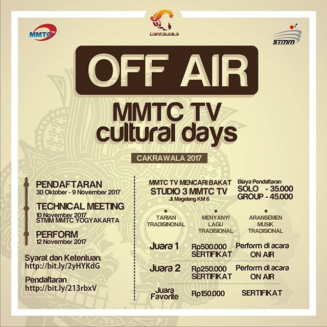 Lomba Cakrawala MMTC TV 2017 Untuk Umum