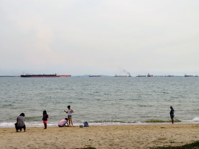 Beach at East Coast Park in Singapore