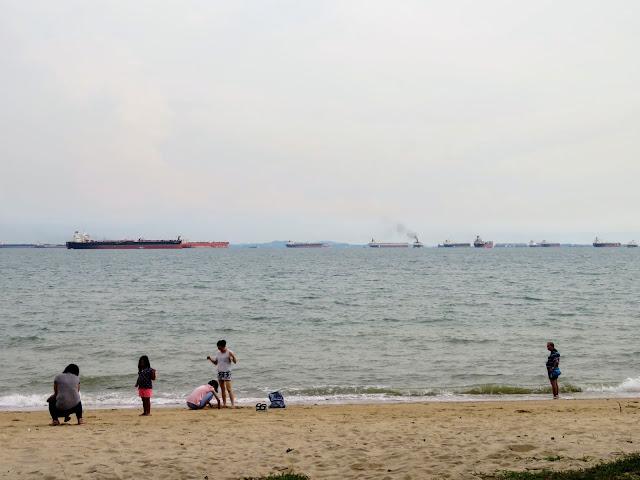Beach at East Coast Park in Singapore
