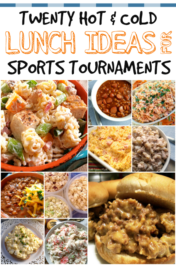 Meal ideas for packing lunches for baseball, softball, soccer and other sports tournaments.