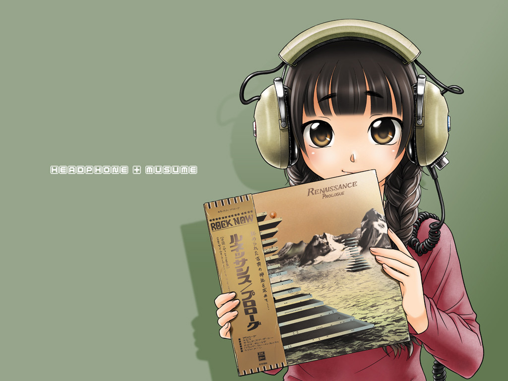 Anime Girl With Headphone Wallpapers