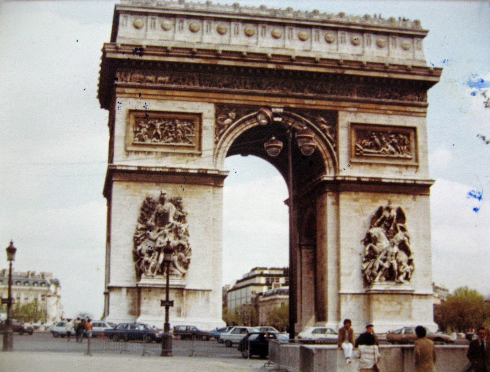 Tommy Mondello & Billy Scire at the Arch of Triumph Paris, France 1983