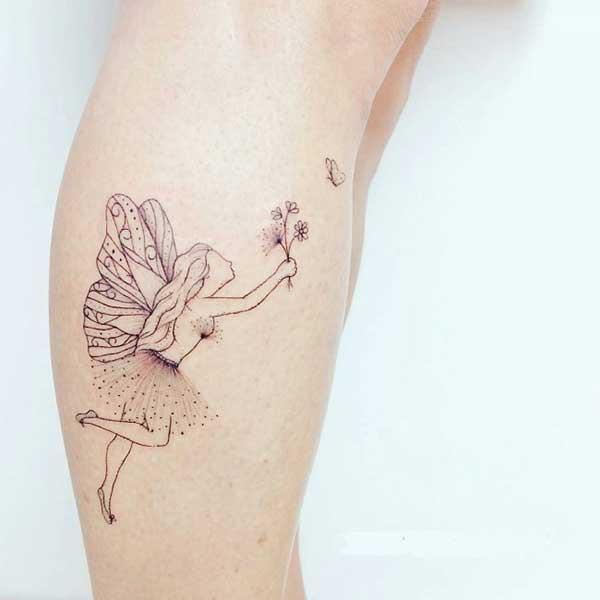 bacak melek dövmesi