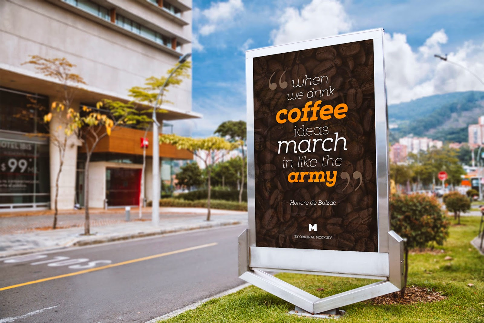 Billboard Outdoor Advertising Mockup PSD