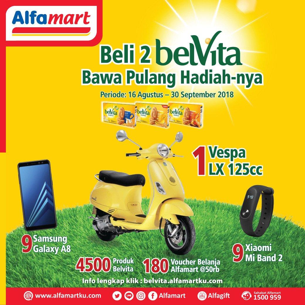 Alfamart - Promo Undian Loyalty Program Belvita Hadiah Utama 1 Vespo LX 125 (s.d 30 Sept 2018)