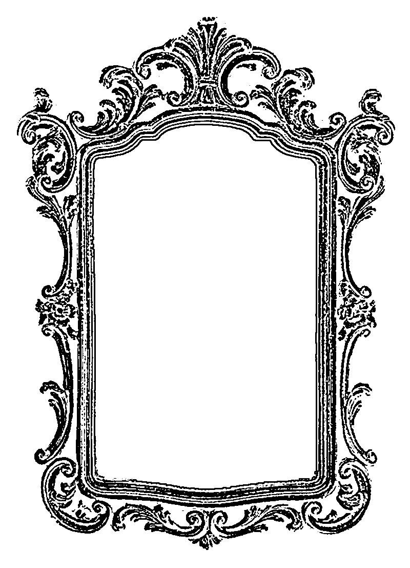 Nini d'Amour: Mirror Mirror Frame - Free vintage clip art