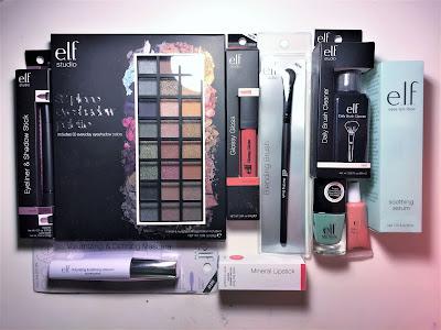 e.l.f. beauty bundle rosegold box products