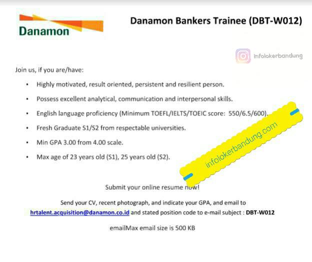 Lowongan KErja Bank Danamon Maret 2017