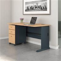 "Bush Series A 60"" Desk with File Pedestal"