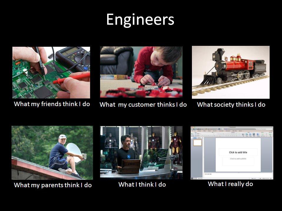 am i an engineer what i think do vs what i really do