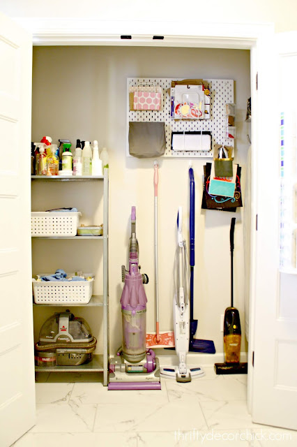 Best closet ever for cleaning supplies