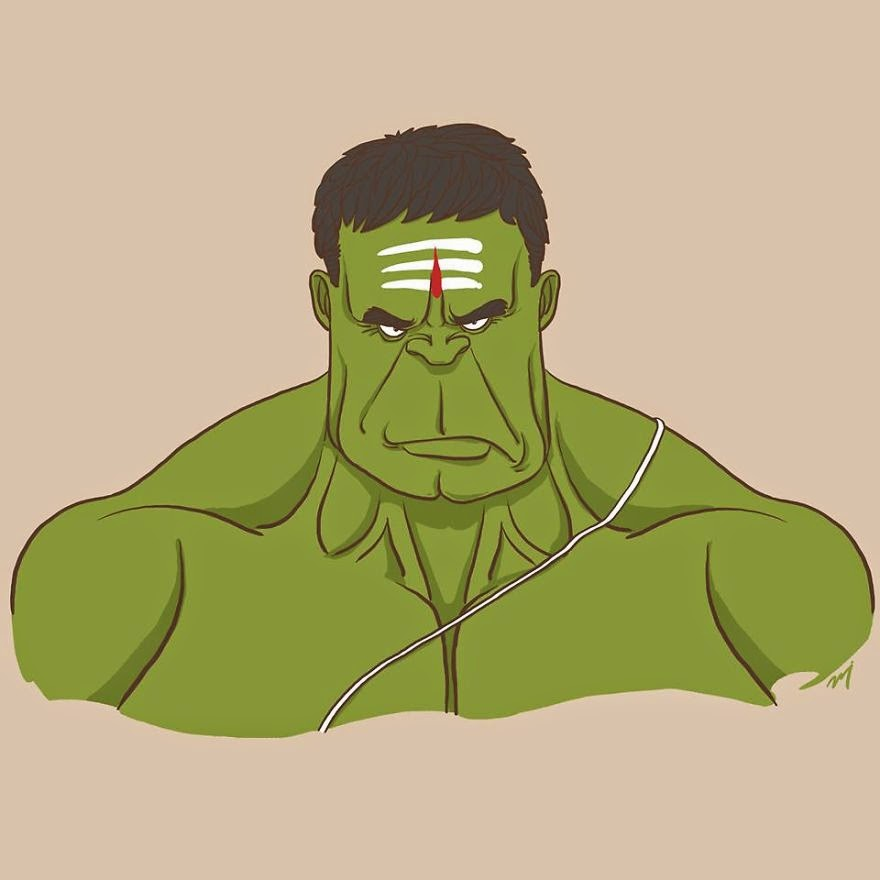 Hulk estilo Hindú