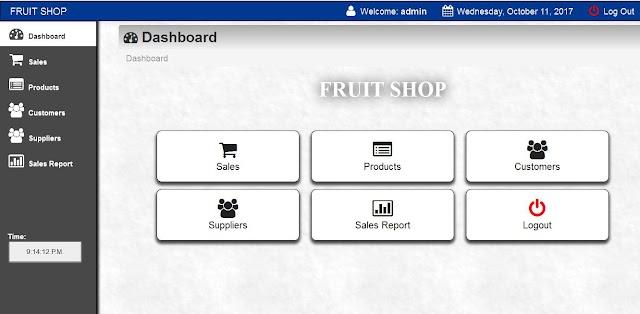 Fruit Shop Management System (PHP)