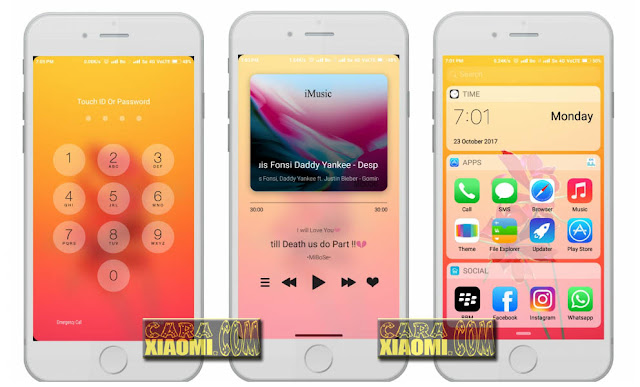 Download Theme MiBose iOS 11.5x Mtz For Xiaomi MIUI8/MIUI9