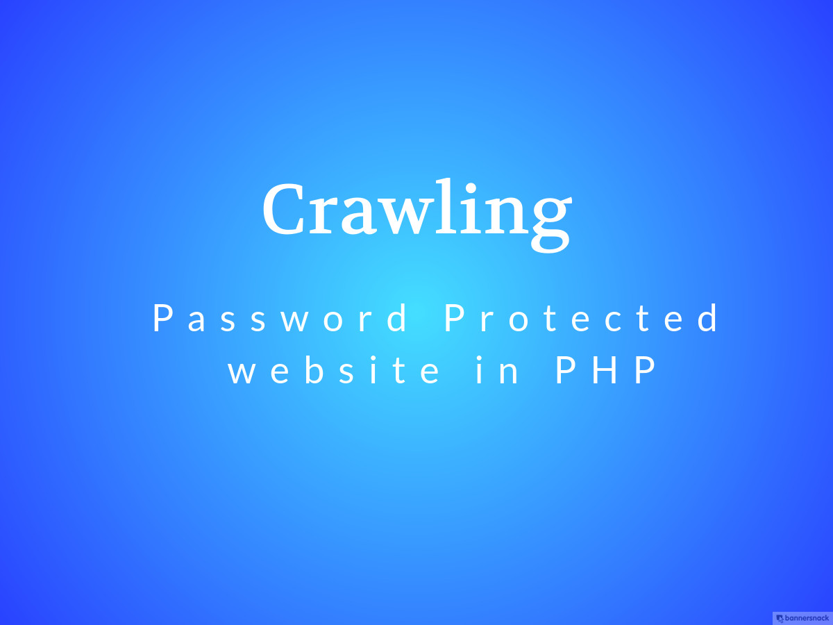 crawling password protected websites in PHP Laravel