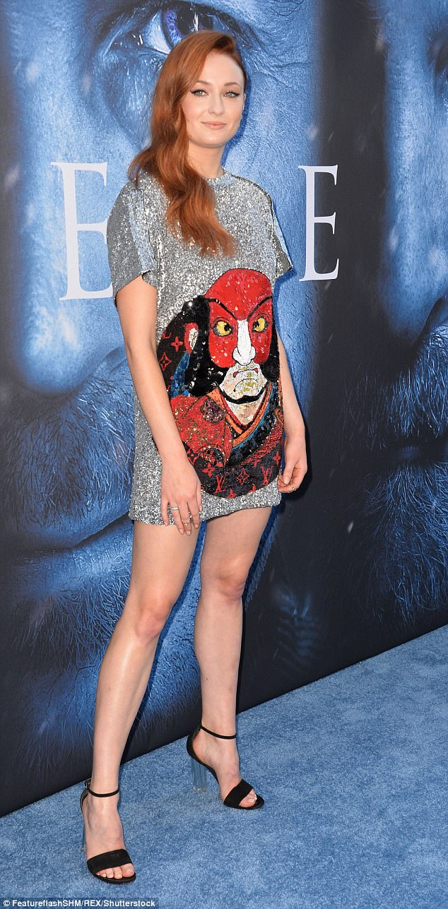 Sophie Turner rocks shiny silver mini dress solo at special GOT screening in LA