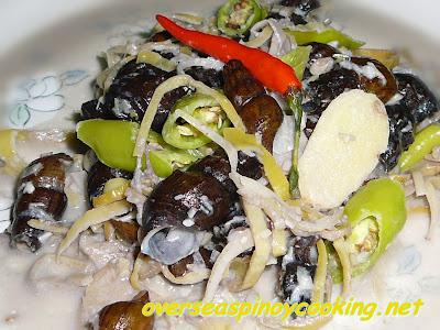 Ginataang Susong Pilipit with Banana Blossom