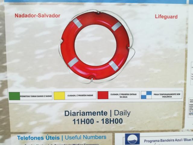 Horário do Nadador Salvador na Praia Fluvial do Vimieiro