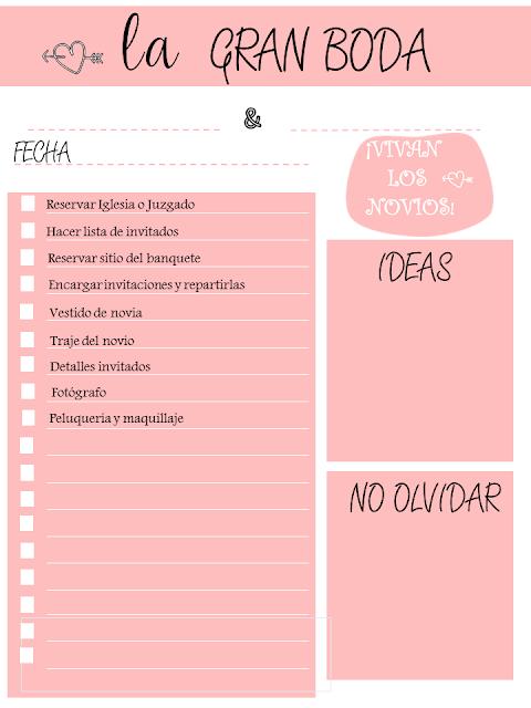 Pijaditas de mayyica lista de tareas para organizar una - Organizar mi boda ...
