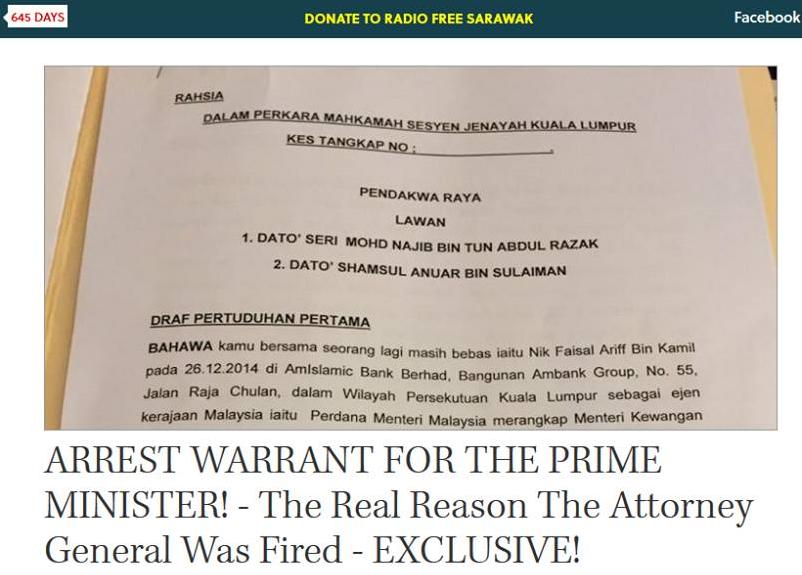 Sarawak Report dedahkan sebab sebenar Gani Patail dipecat? - Anak Sungai Derhaka