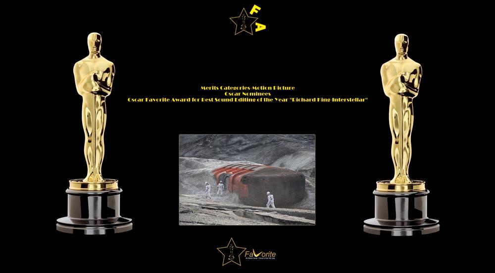 oscar favorite best sound editing award richard king interstellar