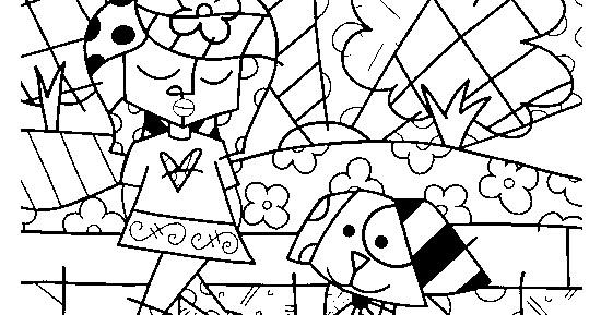 Desenhos De Romero Britto Para Colorir