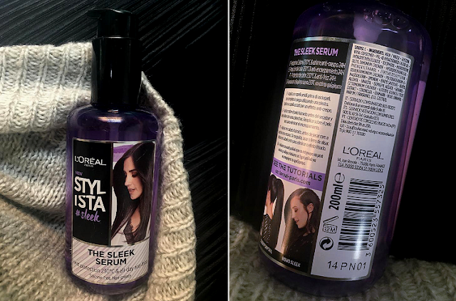 L'Oréal Stylista The Sleek Serum Heat Protector REVIEW straightened hair natural curls frizz