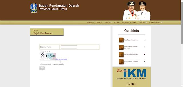Catatan Ikrom Cara Cek Pajak Kendaraan Bermotor Jawa Timur Online 2