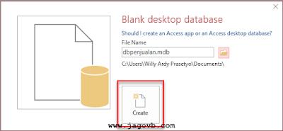 Cara Membuat Database dan Tabel Microsoft Access