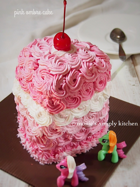 resep ombre cake kukus