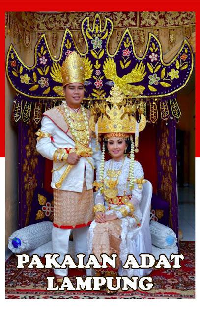 Gambar Pakaian adat pengantin Lampung
