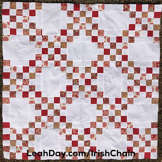 Learn how to make an easy Double Irish Chain quilt with a free video from Leah Day.