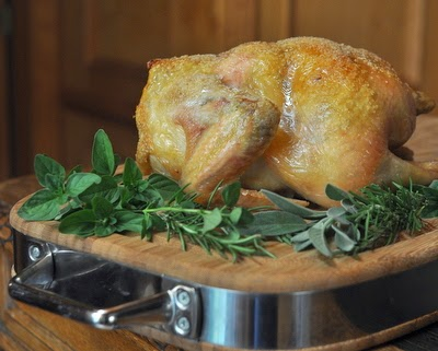 Fast Roast Chicken, another Quick Supper ♥ KitchenParade.com. How to roast a chicken in an hour, turning out crispy salty skin, perfectly roasted meat. Low Carb. High Protein. Gluten Free. Whole30.
