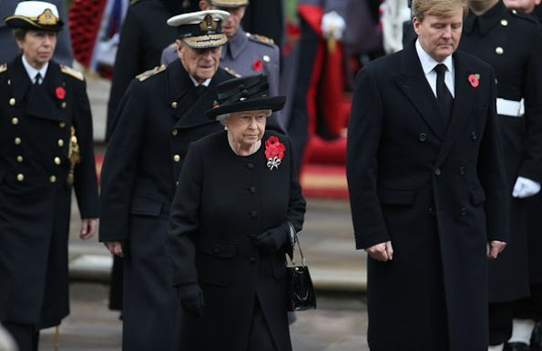 Britain's Queen Elizabeth II and with her husband Britain's Prince Philip, Duke of Edinburgh, Catherine, Duchess of Cambridge and Queen Maxima of the Netherlands and King Willem-Alexander of the Netherlands, Sophie, Countess of Wessex, Britain's Prince William, Duke of Cambridge, Britain's Prince Harry and Britain's Prince Andrew, Duke of York