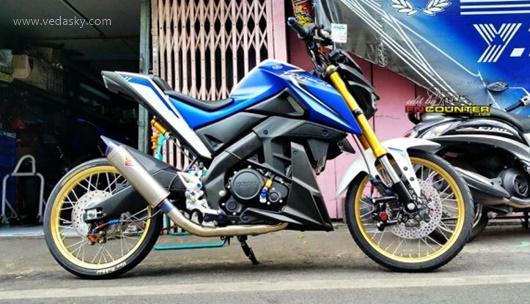 Gambar Modifikasi Yamaha Xabre 150 Velg Jari Jari
