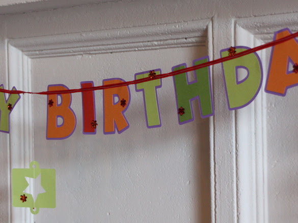Sewn Paper Happy Birthday Banner