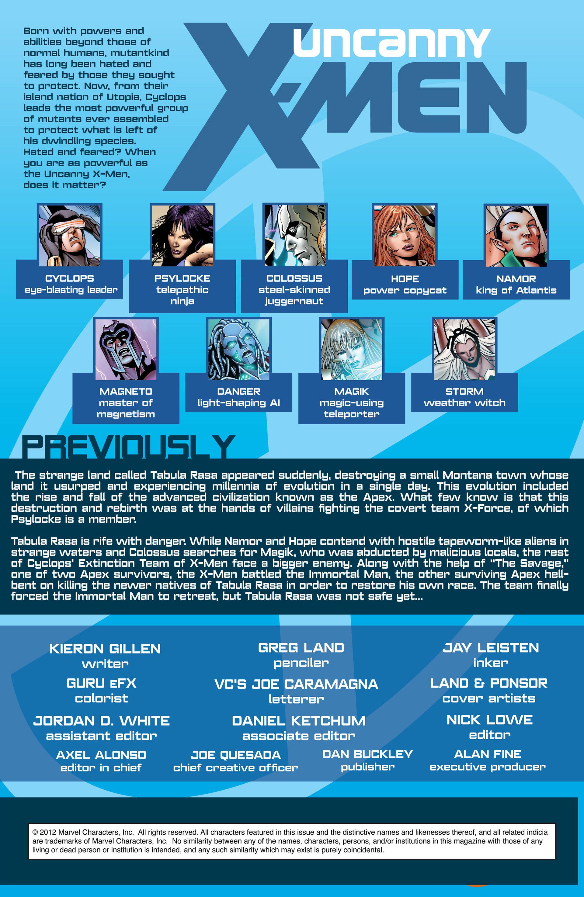 Read online Uncanny X-Men (2012) comic -  Issue #8 - 2