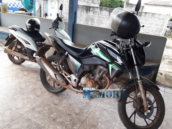 PM de Nova Mamoré recupera duas motocicletas e prende dupla de Porto Velho