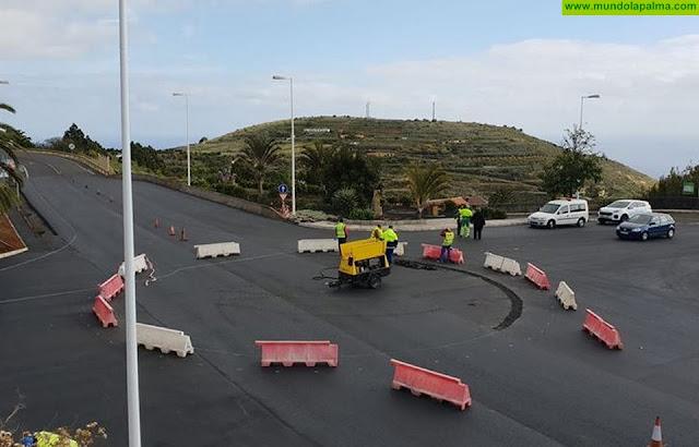 Con total normalidad y fluidez en el tráfico comienza a estar operativa la rotonda norte de Puntallana