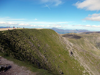 reaching the summit of helvellyn