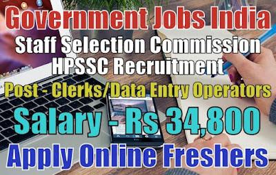 HPSSC Recruitment 2019